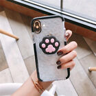 For iPhone Xs Max Xr 6 7 8+ Cute Disney Diamond Case Cover & Airbag Stand Holder