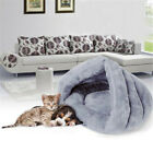 Pet Cat Dog House Kennel Puppy Cave Sleeping Bed Soft Warm Comfort Mat Pad New
