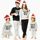 US Family Matching Christmas Pajamas Set Women Men Baby Kids Sleepwear Nightwear