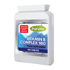 Vitamin B Complex 180 Tablets B1,B2,B3,B5,B6,B12,Biotin,Folic Acid Purvitz UK $10.43 USD on eBay