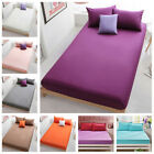 Queen Cotton Bed Fitted Sheets Comfort Bedding Cover Bedclothes Full King  image