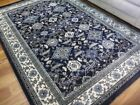 Persian Rugs Heritage Navy Floor Area Rug Detailed All Over Pattern Soft Feel Pi