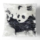 1 x Cushion Throw Pillow Modern Decor Banksy Panda Guns Graffiti V3 Street Art