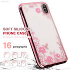 5CEF ForSamsungGalaxy S9 S8 S7 Plus Soft Silicone Back Case Diamond Flower Cover