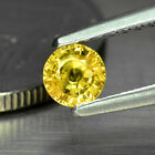 0.33 CT. NATURAL ROUND YELLOW SAPPHIRE TANSANIA SONG JIE