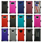 For Samsung Galaxy Note 9 Note 8 Case Cover with (Clip Fits Otterbox defender)