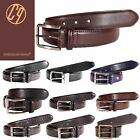 New Men's Real Leather Plain Textured Patterned Office Belts