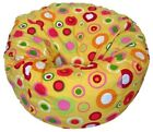 Ahh! Products - 27 Inch Wide Washable Kid Bean Bag Chair - Bubbly Citrus