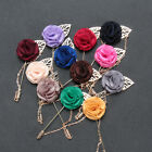 New 21 Style Men's Lapel Flower Daisy Rose Handmade Boutonniere Stick Brooch Pin