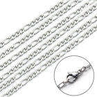Titanium 304L Stainless steel 3.5mm 8-27inches Chain Men Hip-Hop Figaro Necklace image