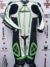 IXON Pulsar Kawasaki one Piece race leathers with hump uk 44 euro 54