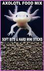 ABF AXOLOTL FOOD MIX, 3.2 & 4.0 SOFT BITS & MINI BLACKWORM STICKS,ABF118