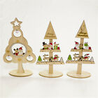 Toy Gifts Table Xmas Tree Wooden Ornaments Christmas Decoration Mini Desktop