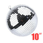 "6/8/10"" Disco Mirror Ball Glass Party Xmas Decor DJ Dance Stage Lighting Effect"