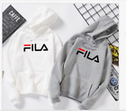 New FILA Black/Gray/White Long Sleeve Hoodie Sweatshirt Men