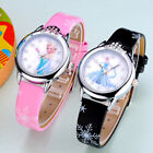 1x Cute Children Watch Elsa Anna Watches Fashion Girl Kids Student Wrist Watch image
