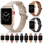 Slim Genuine Leather iWatch Band Women Strap for Apple Watch Series 4 40mm/44mm