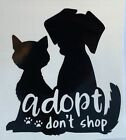 *color & Size Choice* Puppy Dog Cat Adopt Rescue Vinyl Decal Sticker Car Window