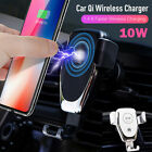 Qi Wireless Charger Car Charging Phone Mount Holder For Samsung Note 9 iPhone XS