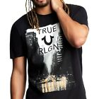 True Religion Men's True City Rain Street Crew-Neck Tee T-Shirt in Black