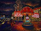 Las Vegas Westward Ho Vintage Strip C.Bjork Tropical Art Painting Print CBjork