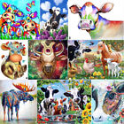 Внешний вид - Cattle DIY 5D Diamond Painting Rhinestone Cow Cross Stitch Kits Art Calf Animal