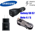 Samsung Galaxy S7 S8 S9 Note 8 5 4 Fast Charging Dual USB Car&Wall Charger+Cable <br/> Compatible S8 S9 Plus S6 .  Multiple Choices