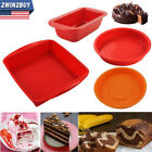 Silicone Baking Cake Pan Bread Molds Square Round Tray Pie Muffin Meatloaf Pizza