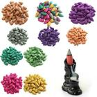 45X Natural Smoke Tower Cones Incense Backflow Hollow Bullet Buddhism Jasmine A+