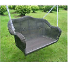 Outdoor Resin Wicker Porch Swing - Several Colors