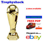 Gold Football Tower Trophy Man of the Match Award 5 sizes FREE ENGRAVING