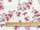 100% Cotton Fabric - Cream Cherry Blossom Floral Print - Craft Material Metre