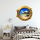 Portscape Tropical Beach #2 Porthole Window Wall Decal Sticker Instant View