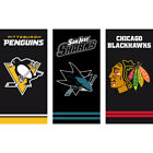 NHL National Hockey League Fan Ice Towel Bath Beach Shower 27 5/8x55 1/8in $23.16 USD on eBay