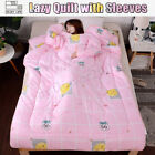 Lazy Quilt with Sleeves family Blanket Cape Cloak Nap Blanket Dormitory Mantle