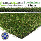 Buckingham 15mm Artificial Grass, Fake Lawn Turf, Cheap, Garden, Fast Delivery