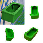 1 Green Bird Parrot Food Water Bowl Pigeons Pet Cage Cup Feeder Feeding Supplies