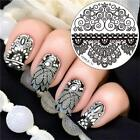 Steel Owl  Stamp Stencil Stamping Plates Round Nail Art Template Christmas