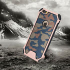 Camo Dual Rugged Shockproof Back Case Army Bumper For iPhone XS 8+ 7+ Samsung S7
