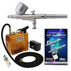 Master Gravity Feed Airbrush Kit With Mini Air Compressor Black Or Gold Crafts