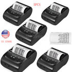 5PC 58mm Mini BT USB Thermal Printer  Receipt Ticket POS for iOS Android Windows