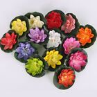 5Pcs Artificial Fake Water Lily Floating Flower Pond Plant Ornament Decors