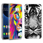 Universal Tiger Patterned Pone Cover Slim Rubber Silicon Case Soft TPU Cover