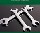 TUOSEN Wrench Tool 45# Steel Double Open End Jaw Spanner Repair tool Full Sizes