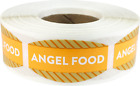 Angel Food Grocery Market Stickers, 0.75 x 1.375 Inches, 500 Labels Total