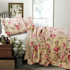 Lelia Rose Cottage 100%Cotton 3 Piece Reversible Quilt Set, Bedspread, Coverlet image
