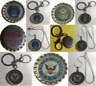 Old Coke Coca-Cola soda bottle cap USA US Navy Air Force Army Keychain Necklace $11.86  on eBay