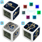 St. Louis Rams Digital LED Clock Multi Color Changing Alarm Desk Decor