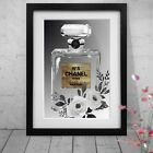New Chanel Gold Bottle Coco Three Art Print Option or Framed Print or Poster NEW