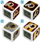 Washington Redskins Digital LED Clock Multi Color Changing Alarm Desk Decor